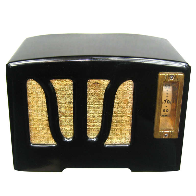 1938 Black & White RCA W Grill Catalin Bakelite Radio