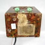 1930's R C A Chilote Marbleized Bakelite Tombstone Art Deco Tube Radio