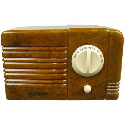 1938 RCA Little Nipper Green & White Catalin Bakelite Tube Radio
