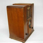 933 Air King Rare Sky Scraper Atlas Wood Tube Radio