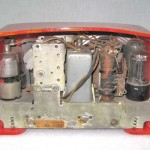 1938 Emerson AX-235 Red with Off White Trim Original