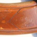 Late 19th C. Ships Wheel Hard Wood And Iron