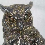 Highly Detailed Sterling Silver Owl
