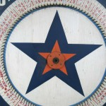 1940's Carnival Game Wheel Red White & Blue Americana