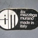 Hand Blown Glass Chandelier by Mazzega – Murano