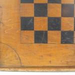 American Folk Art Game Chess Checker Board