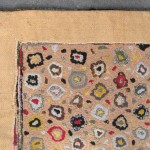 Spectacular Vintage American, Folk Art Hook Rug