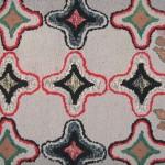 Spectacular, Geometric, Vintage American Folk Art Hook Rug