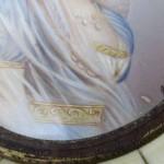 19 Century Pair of Miniatures of Napoleon and Josephine De La Roche