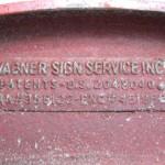 Vintage 1930's Metal Red Letters Signage