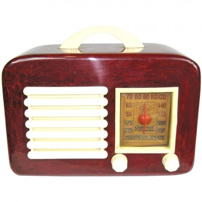 1940 Red General Television Catalin / Bakelite Tube Radio