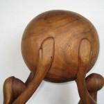 Large Wood Woman & Man Figural Sculpture