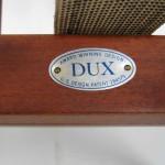 Folke Ohlsson for DUX Walnut Scissor Chairs
