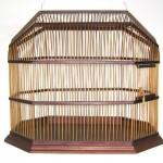 Stunning Mid Century Modern Walnut Bird Cage