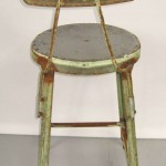 Industrial Machine Age shop Stools, out of the famous Schrade Knife Factory NY