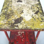 Mid-Century Industrial Cart from Schrade Knife Factory in Red