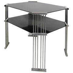 Machine Age Art Deco Double Tiered Side Table