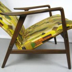 Mid-Century Folke Ohlsson DUX Recling Chair with Ottoman