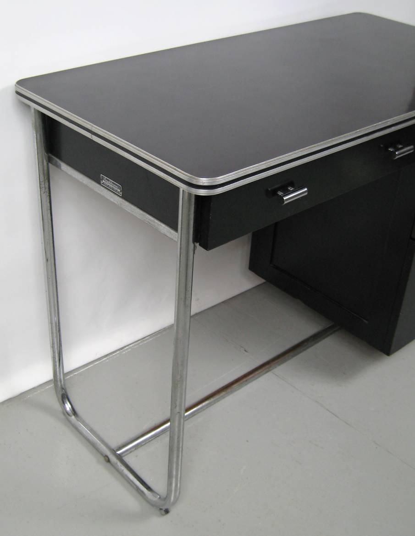 chrome office desk. 1930s Unique \u201cRoyalchrome\u201d Streamlined Office Desk With Tubular Chrome