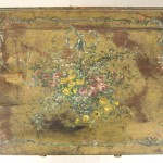19th Century Floral Hand-Painted Three-Draw Stand, Mid-1800s