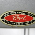 1930s Royal Chrome Red Metal Industrial Desk