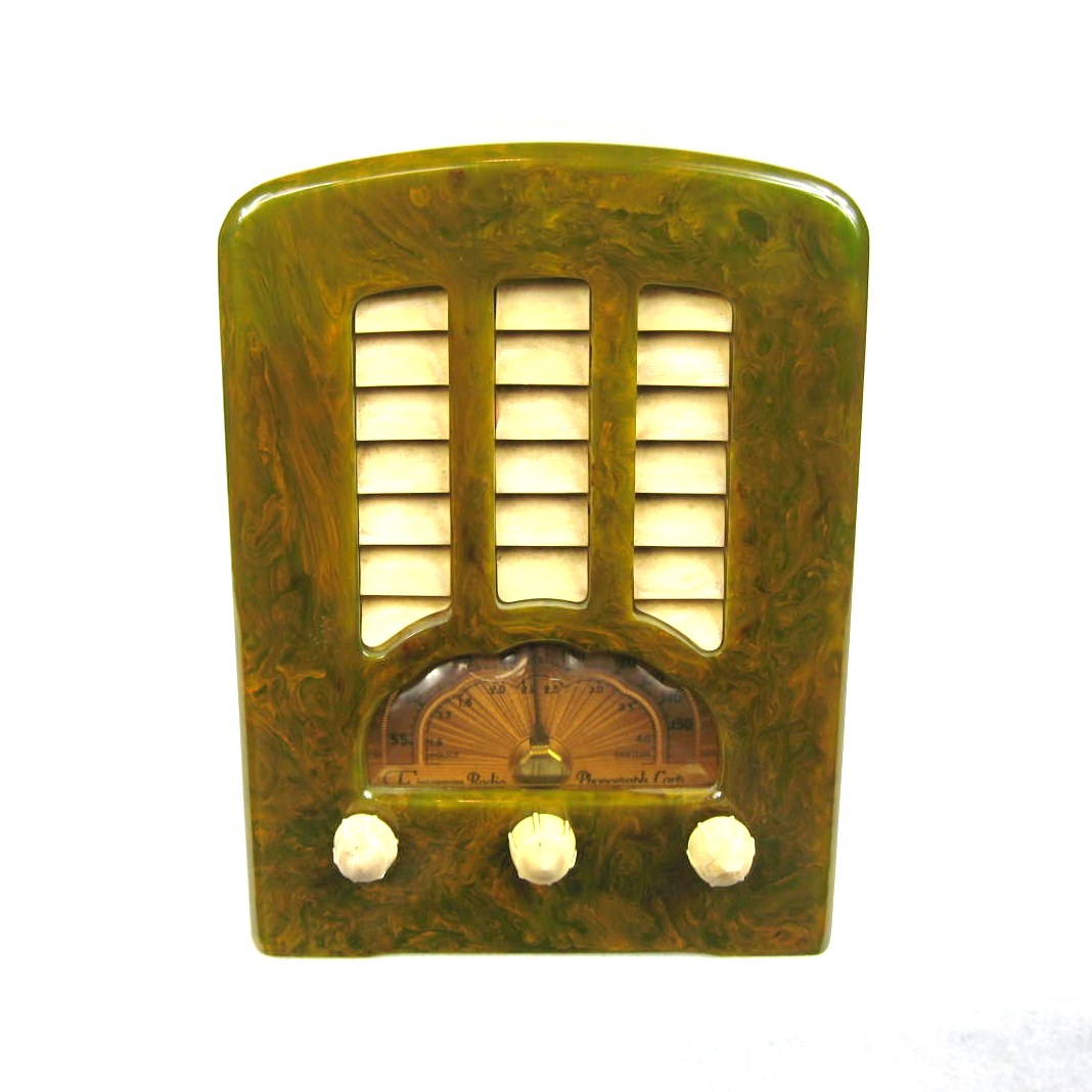 Fantastic 1938 Green Emerson BT-245 Catalin Bakelite Tube Radio