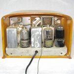 1938 FADA 53 Yellow with Red Grill Bakelite Catalin Art Deco Radio